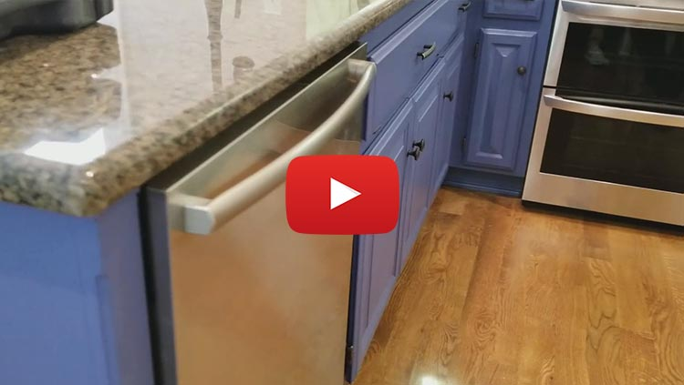 Kitchen Cabinet Painting Before & After - H M Precision Painting - Cabinet Painting In Kansas City